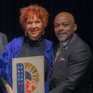 Cleo Parker-Robinson and Mayor Michael B Hancock Mayor's Awards 300