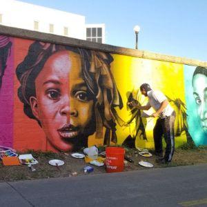 Rainbow Multicultural Children Mural on Cherry Creek 300