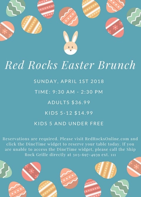 Image for Easter Brunch On the Rocks