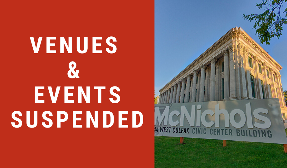 Venues & Events Suspended Through June 1