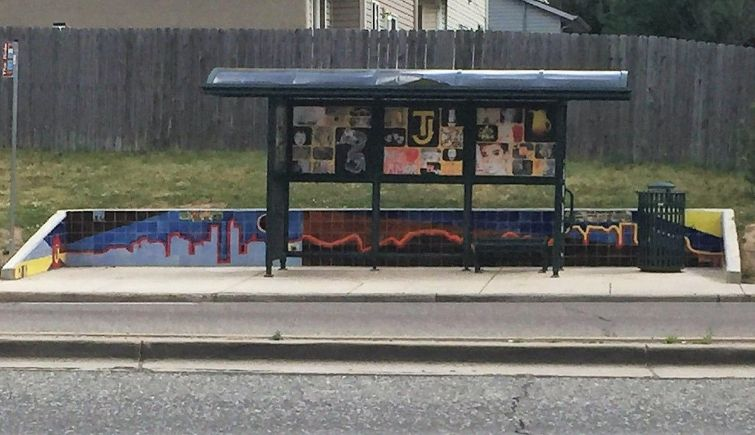 Thomas Jefferson High School Bus Shelter with Mural 755x435
